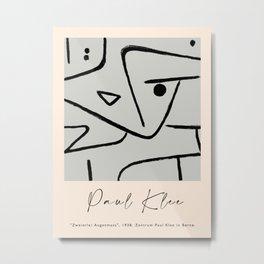Modern poster Paul Klee - Zweierlei Augenmass, 1938. Metal Print