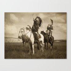 Sepia Toned Indian Photo Canvas Print