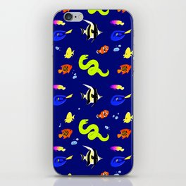 Sleeping with the fishes iPhone Skin