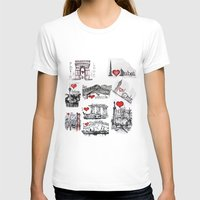 cities T-shirts featuring Cities 1  by sladja