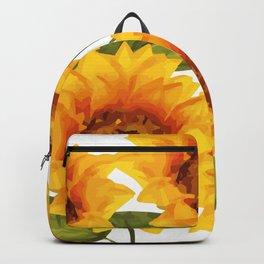 Design Five Sunflower on white Background Backpack