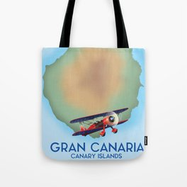 Gran Canaria canary island, travel poster Tote Bag