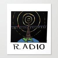 radio Canvas Prints featuring Radio by Ken Coleman