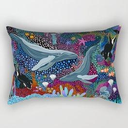Whale Ocean Life Rectangular Pillow