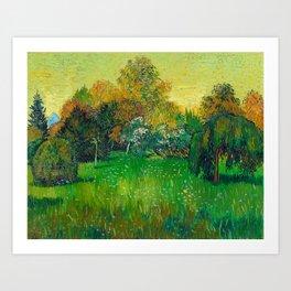 Vincent Van Gogh - The Poet's Garden Art Print