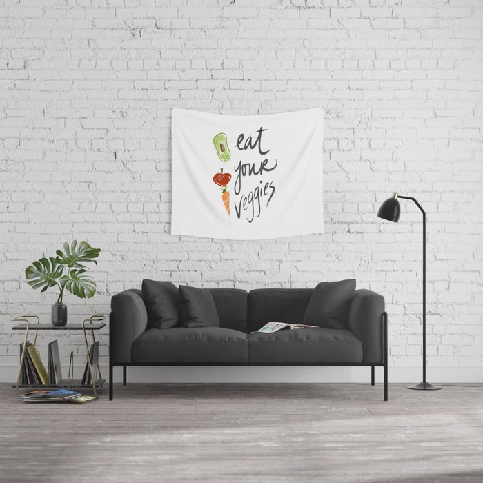 Eat Your Veggies Wall Tapestry