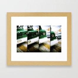 Micro verde Framed Art Print