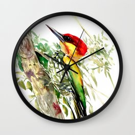 Lita Woodpecker Wall Clock