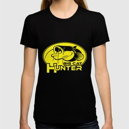 BIG CAT HUNTER catfish predator zander perch bass pike fishing spinning Cat hunt T-shirt