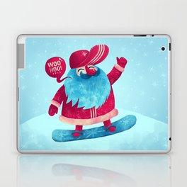 Snowboard Santa Laptop & iPad Skin