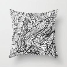 Black & White Jungle #society6 #decor #buyart Throw Pillow