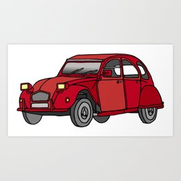 2CV french oldtimer car Art Print