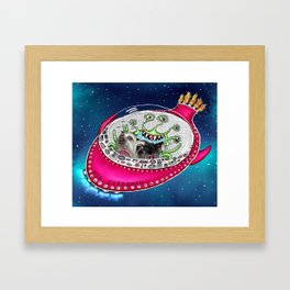 Chinese Crested Hairless Dogs in Space  Framed Art Print