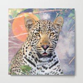 Cool Leopard Metal Print