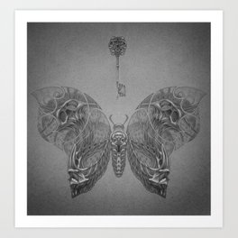 Faces Butterfly 4 Art Print