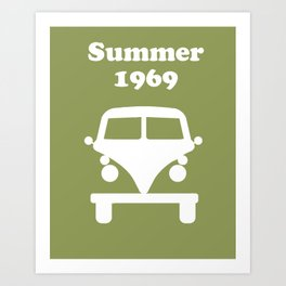 Summer 1969 - Green Art Print