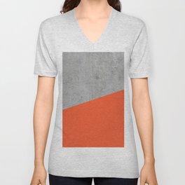 Concrete and Flame Color Unisex V-Neck