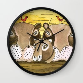 Noah's Ark - Hippo Wall Clock