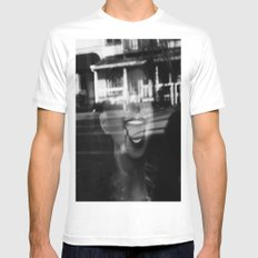 Face White Mens Fitted Tee MEDIUM