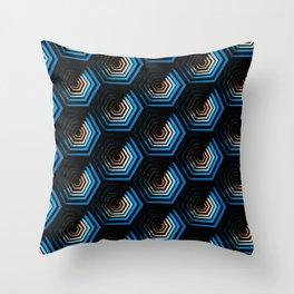SciFi honeycomb Throw Pillow