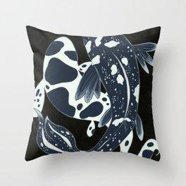 Starry Night Koi Throw Pillow