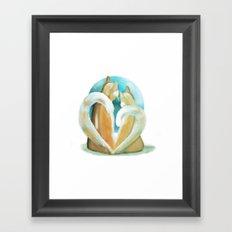 Fluffy love Framed Art Print