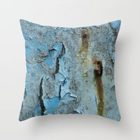 hook Throw Pillows featuring The Hook by aeolia