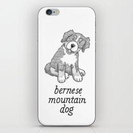 Dog Breeds: Bernese Mountain Dog iPhone Skin