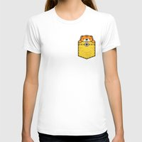 pocket T-shirts featuring Pocket Tiger by Steven Toang