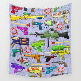 Vintage Toy Guns Wall Tapestry
