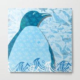 Penguin: Love Metal Print