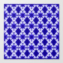 the big diamond tie dye in cobalt Canvas Print