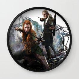 Fighting Elves of Mirkwood Wall Clock