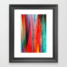 Ice Curtain Framed Art Print