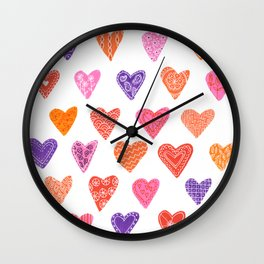 Candy Hearts Wall Clock
