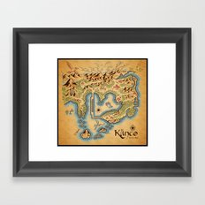 Kanto Map Framed Art Print