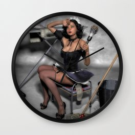 The French Maid 2 Wall Clock