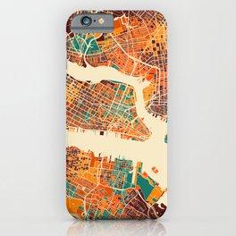 New York Mosaic Map #2 iPhone Case