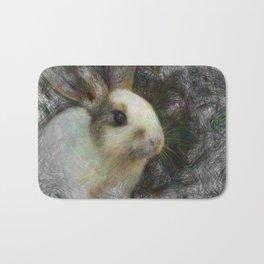 Artistic Animal Bunny 2 Bath Mat