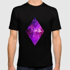Galaxy Black LARGE Mens Fitted Tee