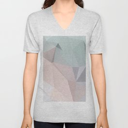Pastell 2 – modern polygram illustration, wall art print Unisex V-Neck