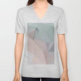 Pastel 2 – poster minimal, pure, creme beige art, rose blue nude art, geometric, scandinavian art Unisex V-Neck