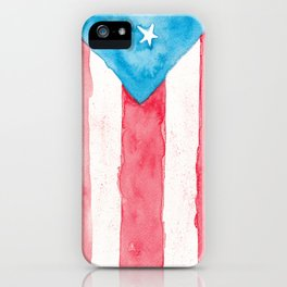 Puerto Rico Watercolour iPhone Case