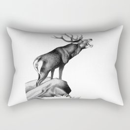 Stag Roaring in the Rut Rectangular Pillow