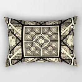 Cherokee Rose Pattern 1 black and white Rectangular Pillow
