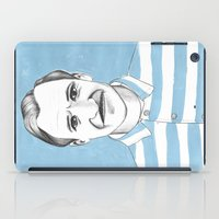 budapest hotel iPad Cases featuring Ralph Fiennes. The Grand Budapest Hotel.  by Elena O'Neill