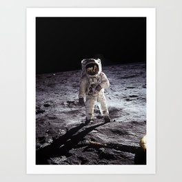 Buzz Aldrin on the Moon Art Print
