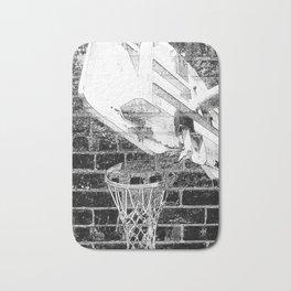 Black and white basketball artwork Bath Mat