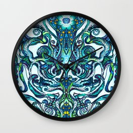 Mindful Trip Blue Chakra Wall Clock