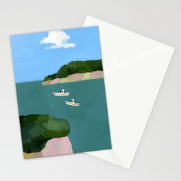 Peaceful sea Stationery Cards
